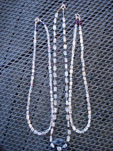 convertible necklaces, quartz crystals, multi-strand necklace, beaded necklace, bead jewelry, beading on a budget