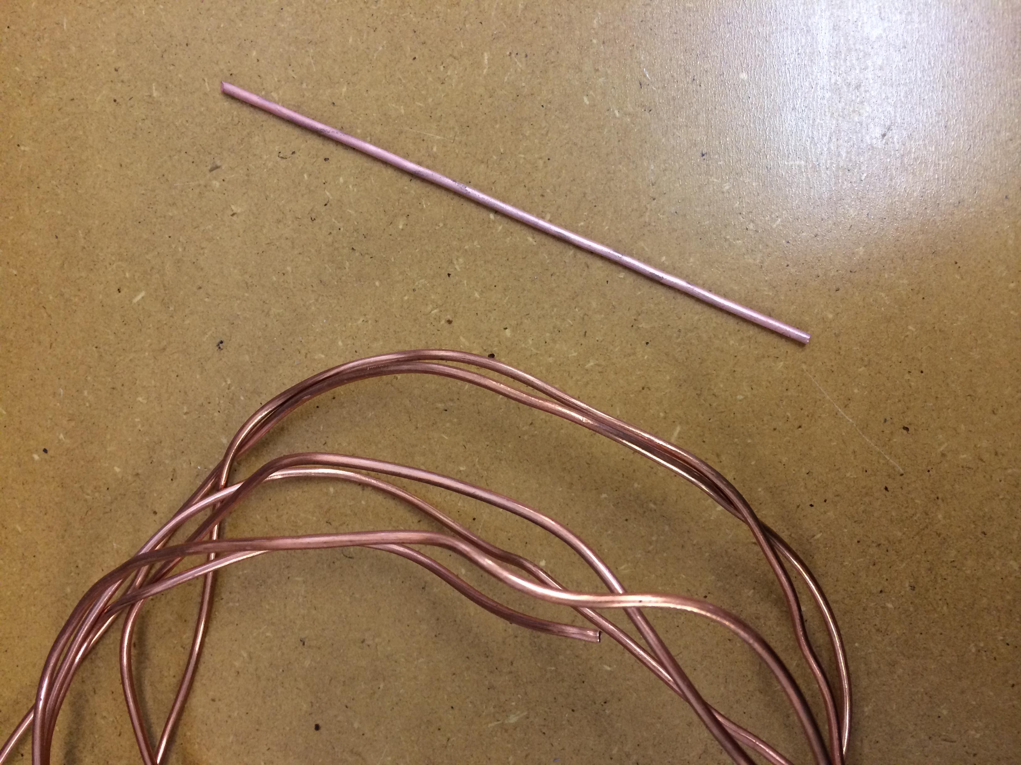 Straightening Heavy Gauge Wire