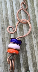 Copper Clasp with Tube Riveted Beads