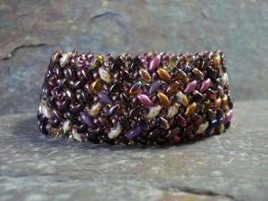two-hole herringbone bracelet