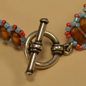 Metal Toggle Clasp with Oval Jump Rings