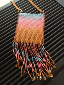 amulet bag with fringe