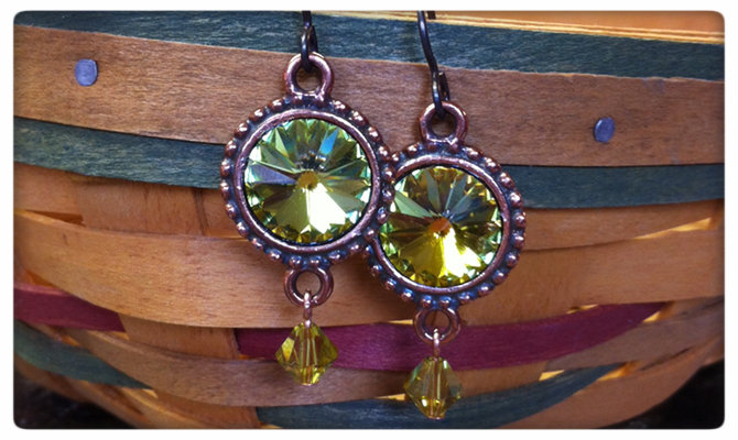 Photo of rivoli earrings