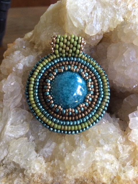 Get Started with Bead Embroidery: Cabochon Pendant