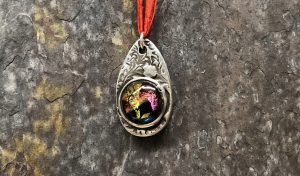 Art Clay Silver and Dichroic Pendant